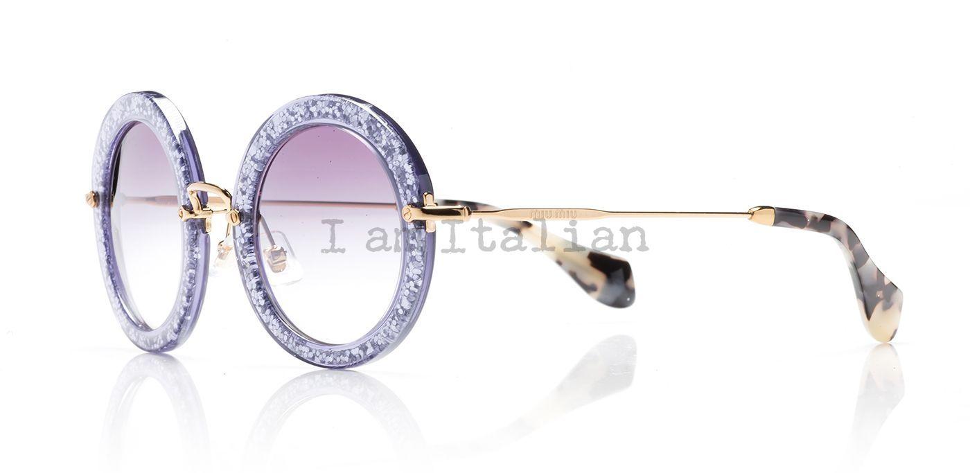 27e97a4fd7 miu miu glitter sunglasses 2014 2014 round purple