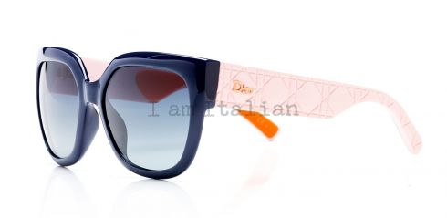Dior rubber temples pink orange sunglasses