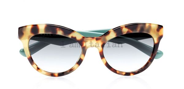 Prada triangle timeless heritage 2014 havana green