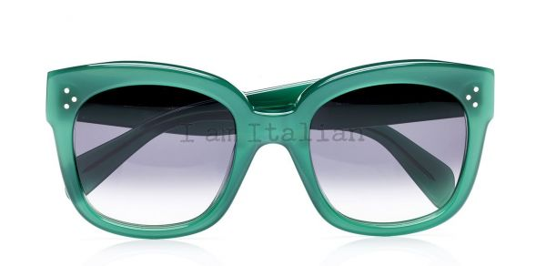 Céline 3 dots sunglasses vibrant green