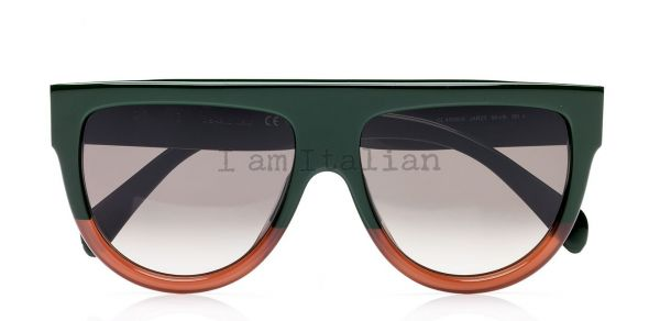 Céline bicolour cabas sunglasses green