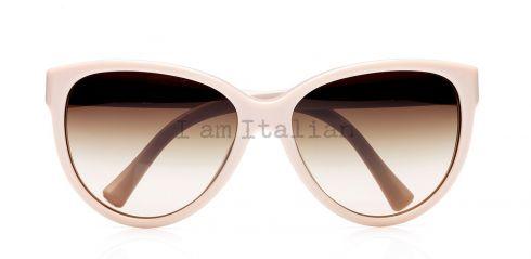 Giorgio Armani beige oversize sunglasses