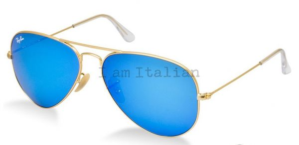 Ray Ban Aviator Mirror Blue Sunglasses