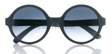 iamitalian round mat black sunglasses on IamItalian.com - Worldwide Shipping