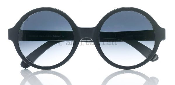 iamitalian round mat black sunglasses