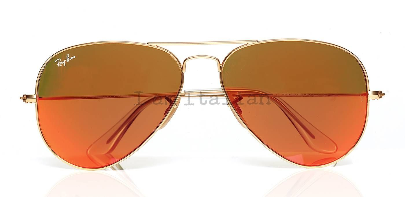 ray ban limited edition aviator gold metal sunglasses